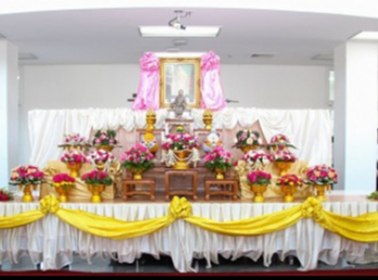Ceremony of Remembrance for Queen consort Sunandha Kumariratana on occasion of 157th birthday at Samutsongkhram Education Center.