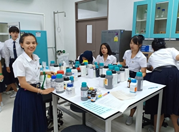Thai Traditional Medicine Year 1 students classify equipment and chemicals into categories. In the laboratory