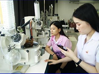 แขนงวิชาการดูแลสุขภาพและความงาม ทำการวิจัยค้นคว้าระเหยสารเอทานอลด้วยเครื่อง Rotary Evaporator