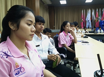 head of the student council of College of Allied Health Sciences in Suan Sunandha Rajabhat University, Samut Songkhram Education Center was a part of