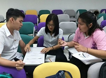 """lecturer of Department of Health Promotion and Education, College of Allied Health Sciences at Suan Sunandha Rajabhat University and the Social and Health Problems in Children Program Instructor held the """"DSPM Flashcard Practice"""" - making a couple of flas"""