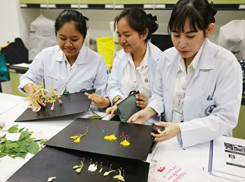 Applied Thai Traditional Medicine sophomores who studied at College of Allied Health Sciences, Suan Sunandha Rajabhat University were anatomizing the structure of flower as a part of Botanic Program led