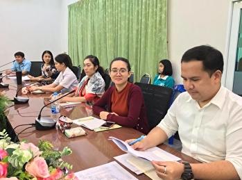 ประชุมติดตามการดำเนินงานและเตรียมความพร้อมเพื่อรับการตรวจประเมินจากสภาการแพทย์แผนไทย ในวันพุธ ที่ 30 มกราคม