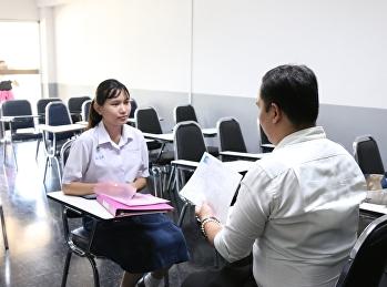 บรรยากาศการสอบสัมภาษณ์ TCAS รอบ 4 ของวิทยาลัยสหเวชศาสตร์ (วันที่ 4 มิ.ย.2562) ณ อาคาร 22 ชั้น 2 มหาวิทยาลัยราชภัฏสวนสุนันทา
